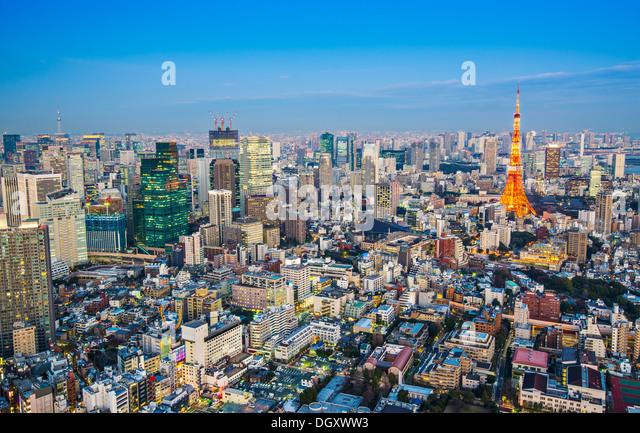 Tokyo Tower in Tokyo, Japan - Stock Image