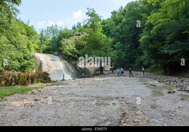 Refrontolo, Treviso, Italy. 3rd Aug, 2014. Cloudburst at Refrontolo; 4 people deaths and several missing. Yesterday - Stock Image