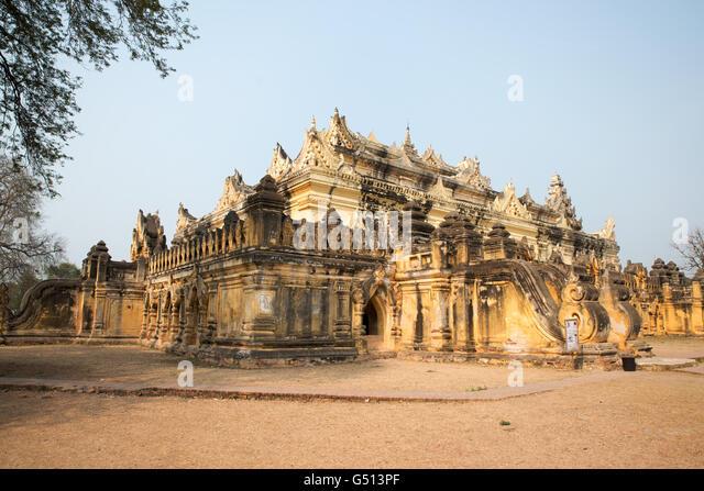 Maha Aung Mye Bonzan Kyaung Monastery, Mingun, Sagaing Region, Myanmar - Stock-Bilder