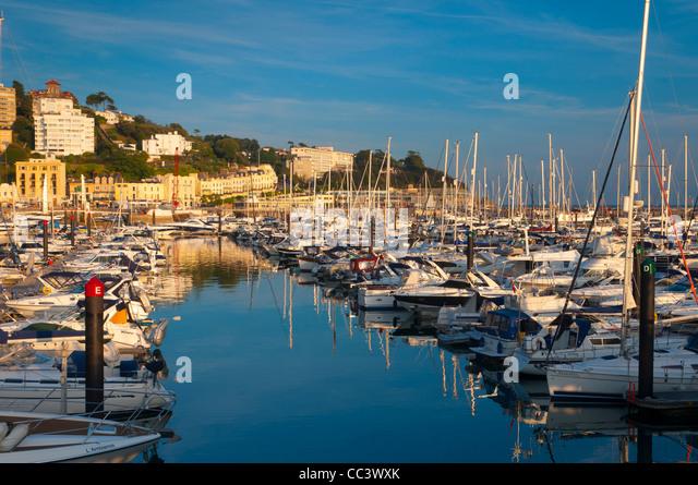 UK, England, Devon, Torbay, Torquay, Torquay Harbour - Stock-Bilder