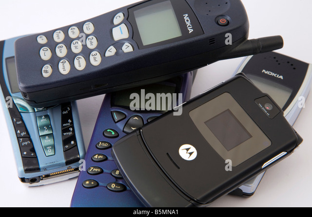 Pile Of Cell Phones : Telephones pile stock photos