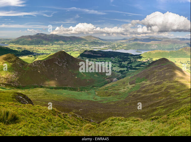The Derwent Fells - Stock-Bilder