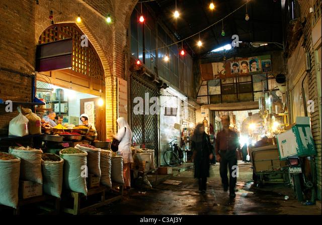 market in isfahan iran - Stock Image
