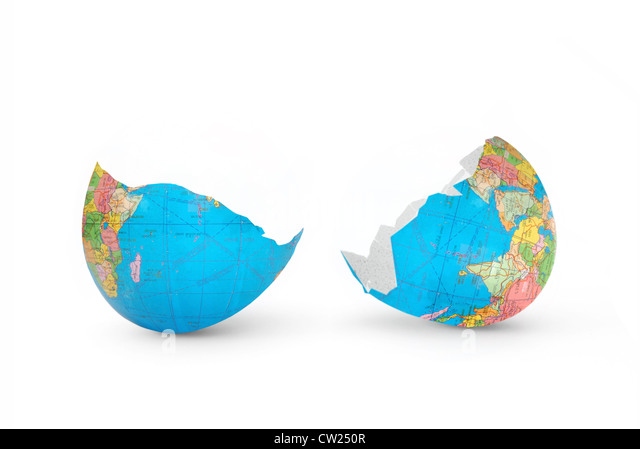Cracked world - Stock Image