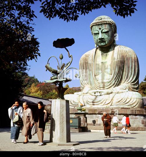 Amida Buddha in the K�toku-in Temple of Kamakura, Japan - Stock-Bilder