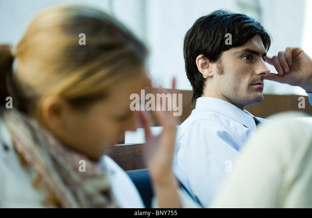 Couple experiencing relationship difficulties - Stock Image