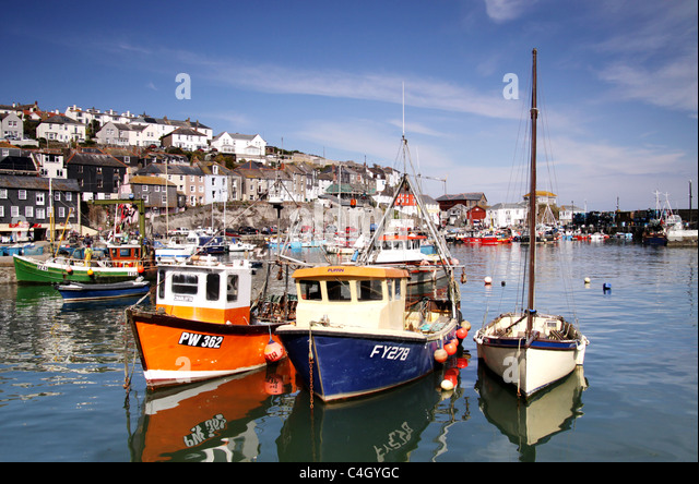 Mevagissey,Cornwall,West Country,England,UK - Stock-Bilder