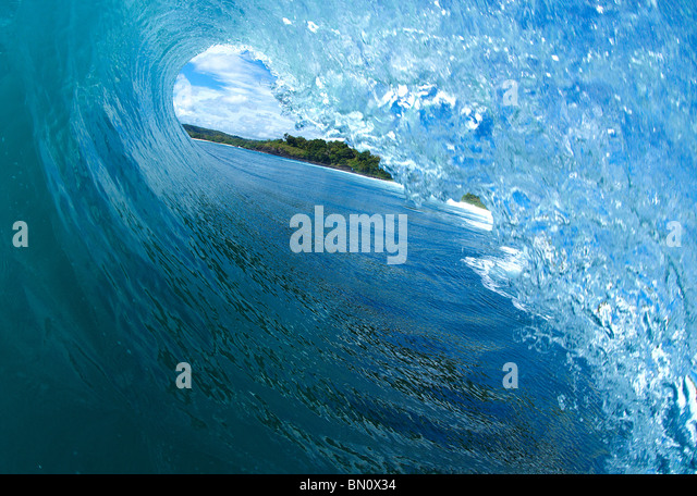 In the tube of a wave - Stock-Bilder