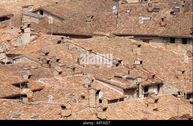 Umbrian roofs - Stock Image