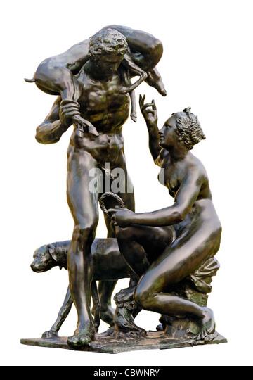Venus And Adonis Statue Adriaen De Vries Stock...
