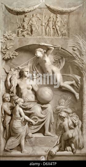 Allegory of Fame 1675 - 1683 Gerard de Lairesse 1641 - 1711 Dutch Netherlands - Stock Image