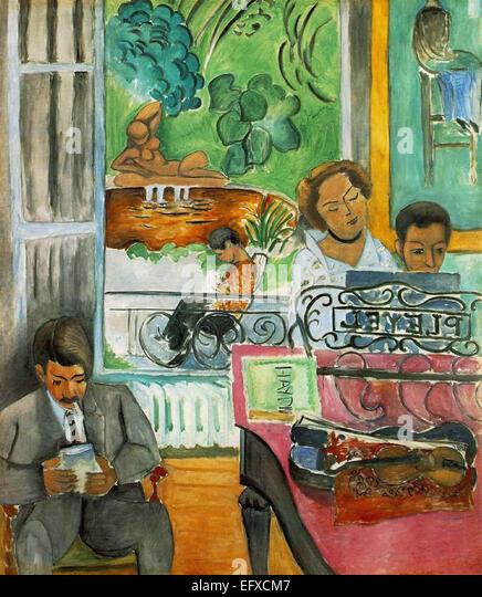 Henri Matisse  The Music Lesson - Stock-Bilder