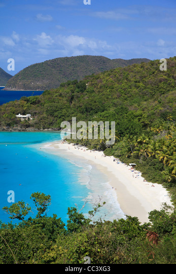 Caribbean, US Virgin Islands, St. John, Virgin Islands National Park, Trunk Bay - Stock-Bilder