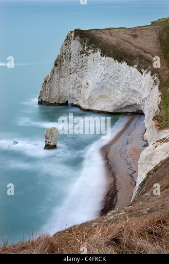 Bats Head and Butter Rock near Durdle Door on the Jurassic Coast, Dorset, England. Winter (January) 2011. - Stock Image