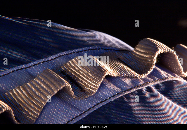 Close up / detail of backpack. - Stock Image