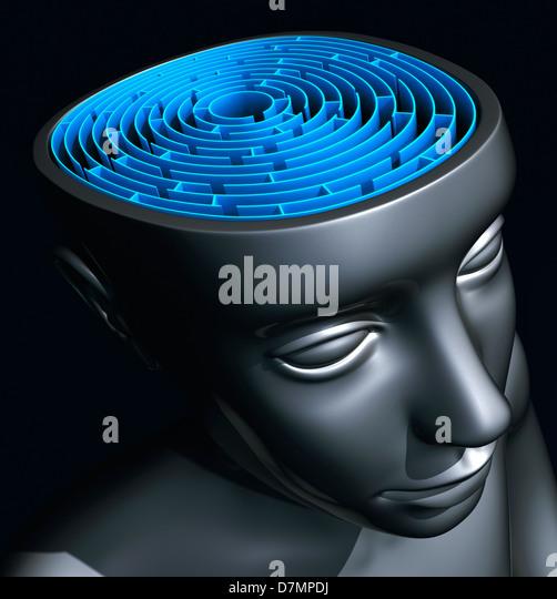 Confusion, conceptual artwork - Stock Image
