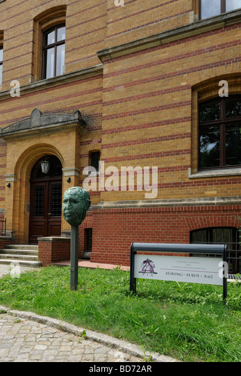 Entrance to the Institute for Climate Impact Research, PIK, Potsdam, Brandenburg, Germany, Europe - Stock Image