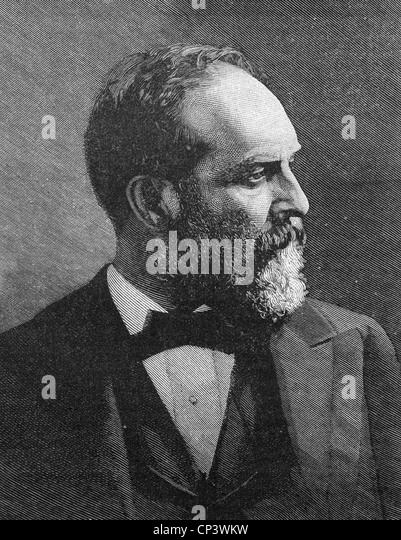 JAMES A. GARFIELD (1831-1881) 20th President of the USA - Stock Image