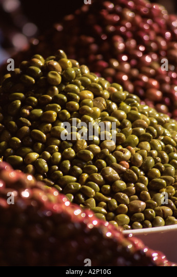 Mounds of lentils - Stock Image