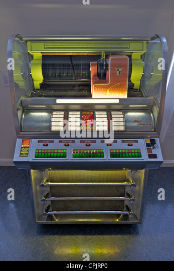 Seeburg Select-o-matic juke-box, 1950's, Norsk Folkemuseum Folk Museum, Bygdoy, Oslo, Norway, Europe - Stock Image