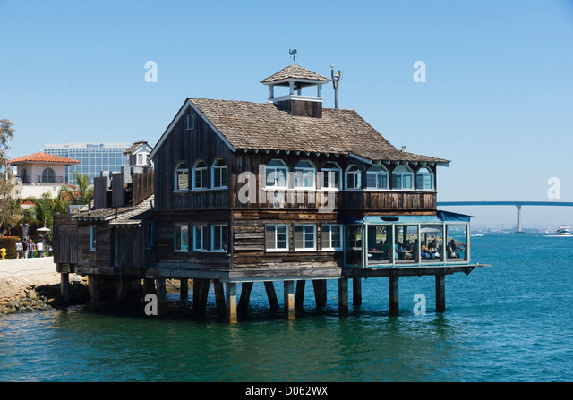 Cafe Pier San Diego Harbor