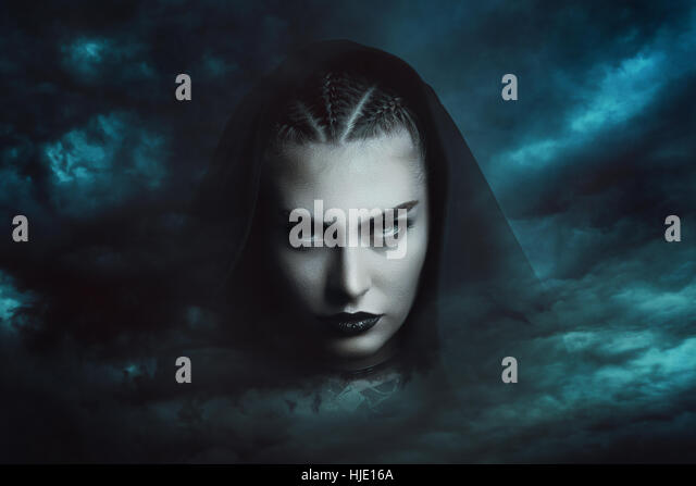 Powerful storm witch  . Dramatic cloudscape - Stock-Bilder