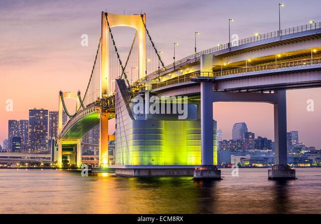 Tokyo, Japan cityscape at Tokyo Bay. - Stock Image