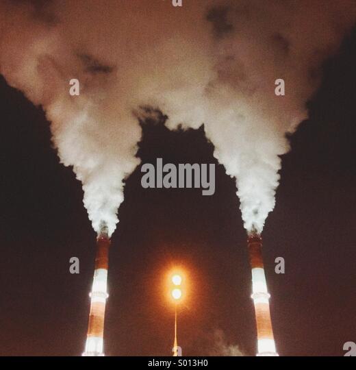 CHP chimney - Stock Image