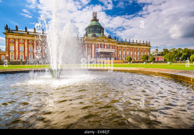 The New Palace 'Neues Palais' in Potsdam, Germany. - Stock-Bilder
