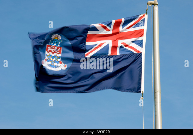 Cayman Islands national flag national - Stock Image