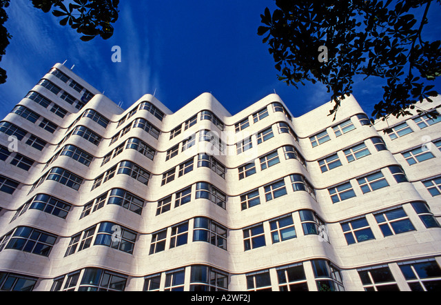 Germany berlin the shell house or shellhaus stock image