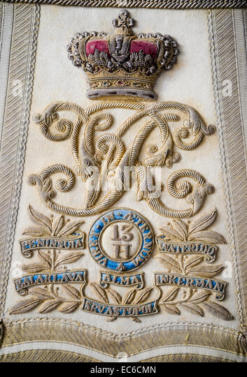 Sabretache of the 13th Hussars a British cavalry regiment - Stock Image