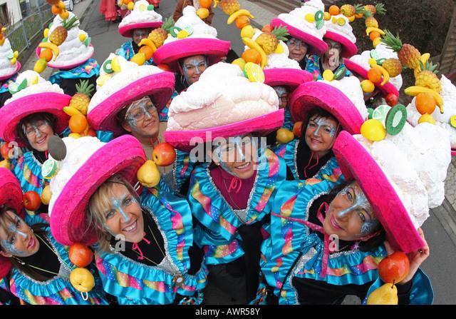 Mardi Gras parade in Muelheim-Kaerlich, Rhineland-Palatinate, germany: - Stock Image