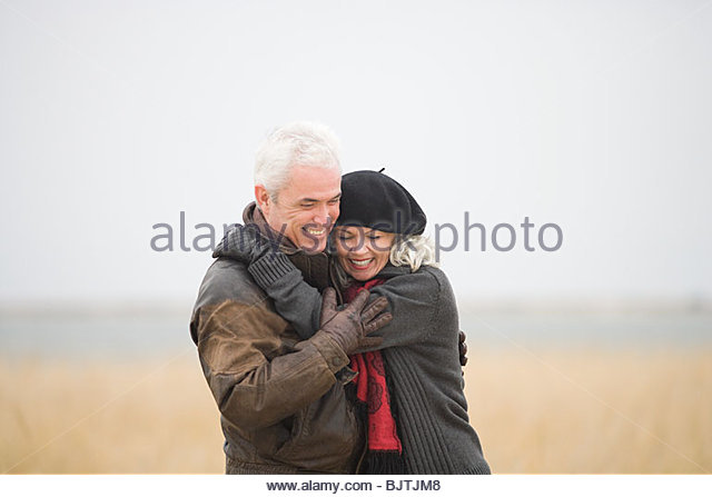 Mature couple outdoors - Stock Image