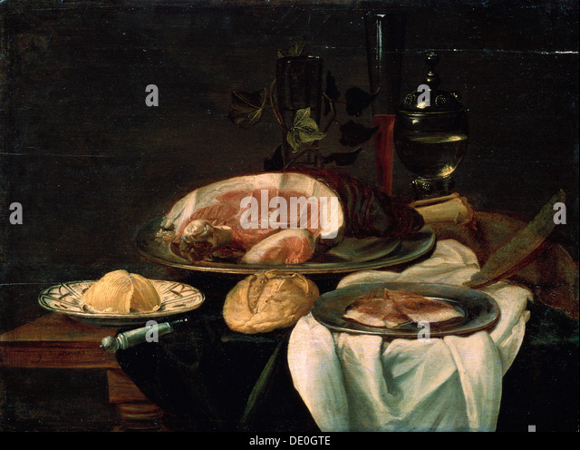 'Still life', 1650.  Artist: Unknown Old Master - Stock Image