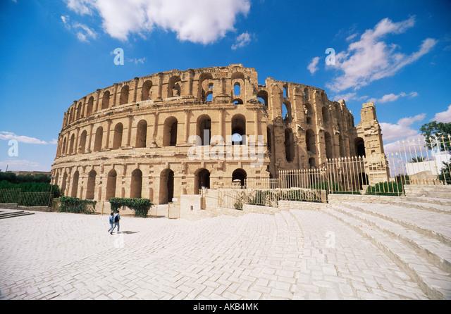 El Jem Amphitheatre, Tunisia - Stock Image