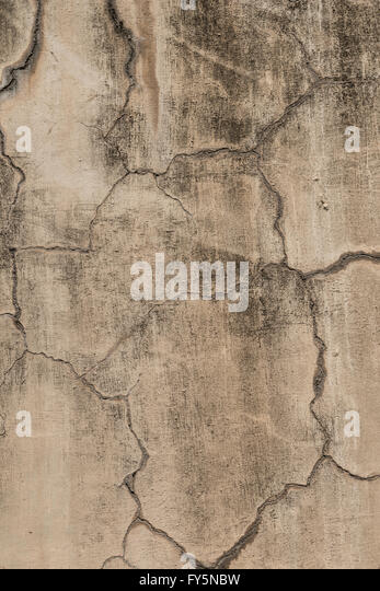 Textured wall with cracks and scratches on it, could be used for editing an image as an overlay background or texture. - Stock Image