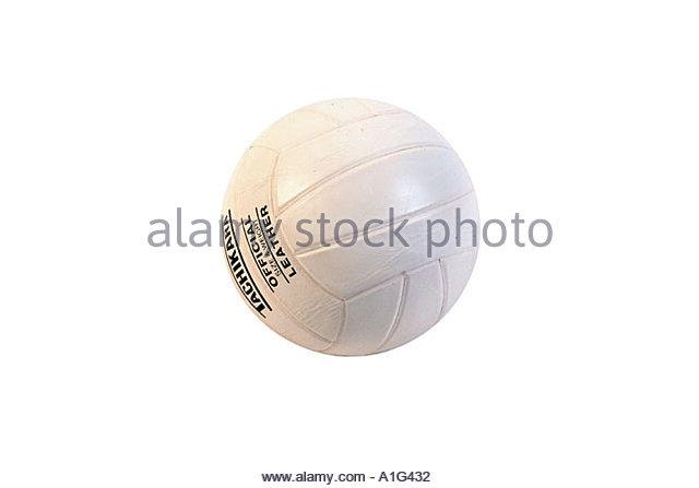 Volleyball Studio Portrait - Stock Image
