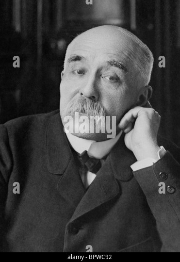 Portrait photo c1900s of French statesman Georges Clemenceau (1841 - 1929) - Prime Minister of France 1906 - 1909 - Stock Image