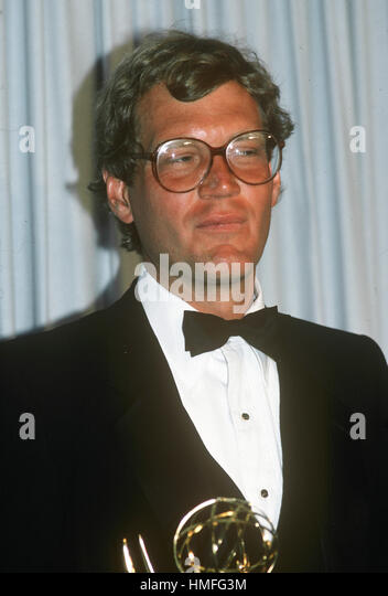 David Letterman pictured at the 1980 Emmy Awards. - Stock-Bilder