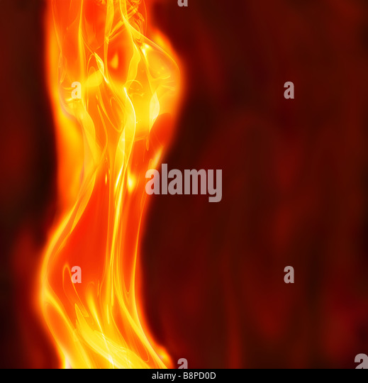 excellent abstract art image depicting glowing female body fire and flames - Stock Image