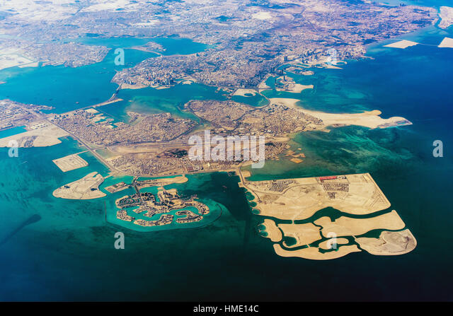 Aerial view of Manama, Bahrain - Stock Image