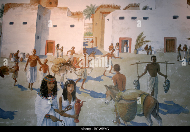 Scenes From Everyday Egyptian Life Taken At Liverpool Museum, England, UK - Stock-Bilder