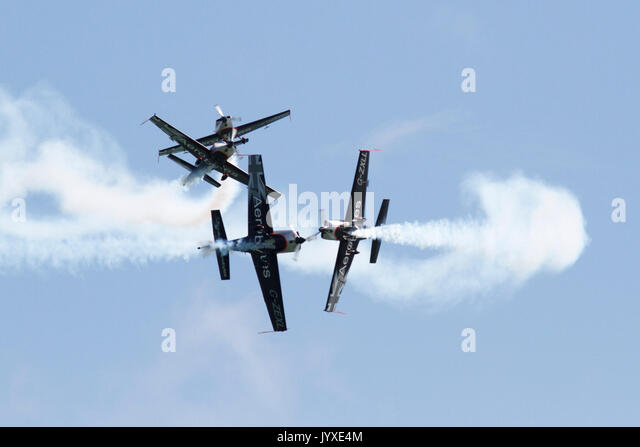 Eastbourne, UK. 20th Aug, 2017. UK weather. The Blades entertained the crowds today on the last day of the Eastbourne - Stock Image
