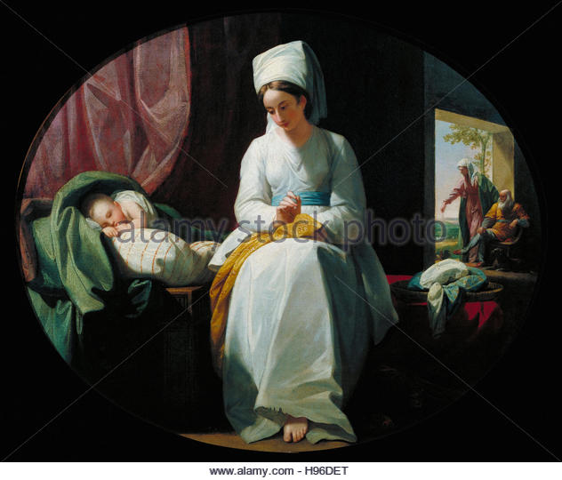 Benjamin West - The Golden Age - Stock Image