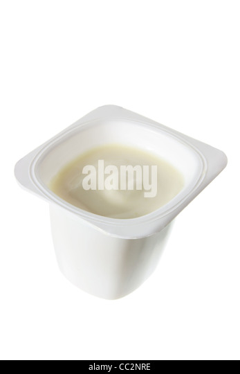 Tub of Yoghurt - Stock Image