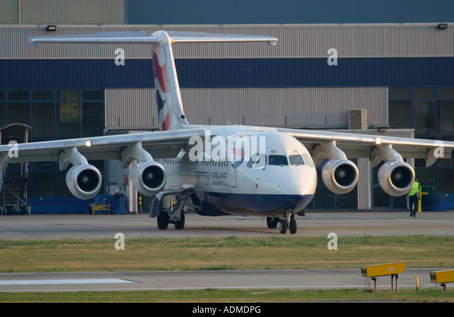 British Airways BAE Systems Avro 146 RJ100 - Stock Image