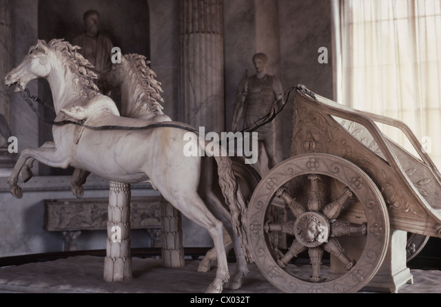 Chariot Statue - Stock Image