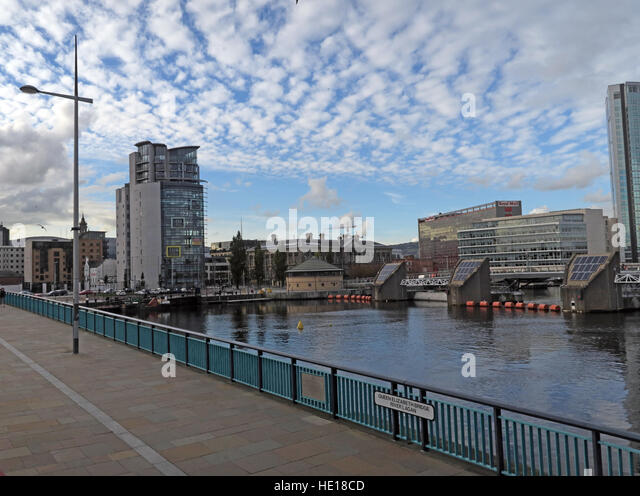 Queen Elizabeth Bridge,Lagan Waterside,Belfast,Northern Ireland, UK - Stock Image