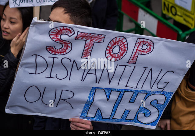 London, UK. 17th October, 2015.  NHS Junior Doctors mass demonstration against proposed changes to their contracts - Stock Image